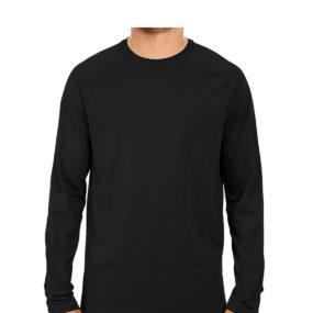 Men Full Sleeve Round Neck Black