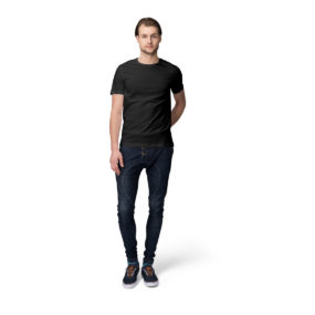 Rely Bazaar Black Plain Half Sleeves T-shirt