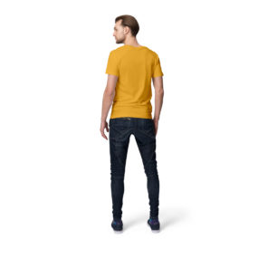 Golden Yellow Men half sleeves