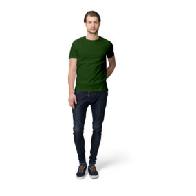 Olive Green men half sleeves