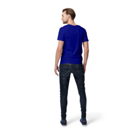 Royal Blue Men half sleeves