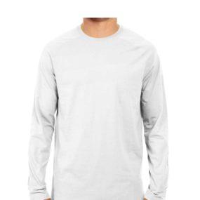 Men Full Sleeve Round Neck White