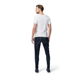 Rely Bazaar White Plain Half Sleeves T-shirt