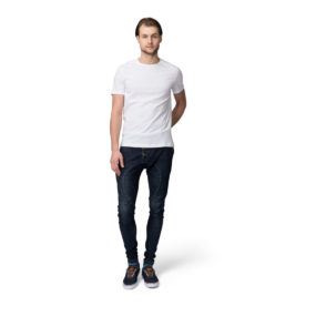 Rely Bazaar White Plain Half Sleeves T-shirt