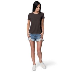 Women half sleeve Charcoal Grey